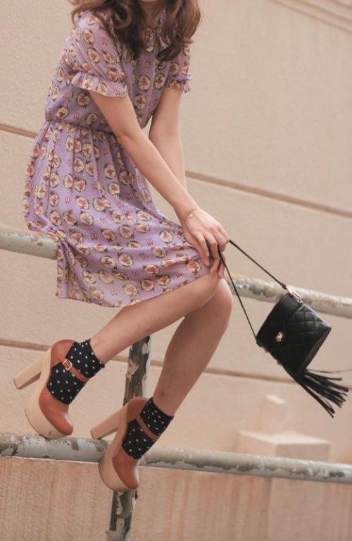 polka-dot-socks-with-heeled-sandals-trend