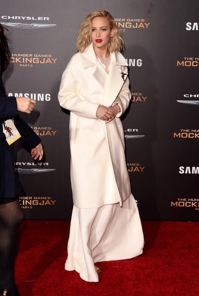 Jennifer+Lawrence+Outerwear+Wool+Coat+2tcHrDISwAil