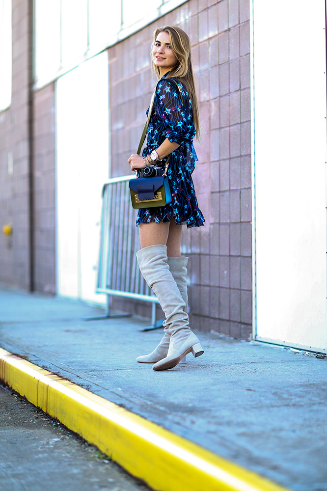 summer-prints-printed-dress-over-the-knee-boots-street-style