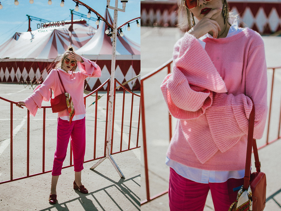 5270708_Zara_pink_bell_sleeve_sweater__pink_tailored_trousers__gucci_red_pumps__coral_shoulder_bag__red_glasses__andreea_birsan__couturezilla__cute_fall_outfit_ideas_2017_(d1)